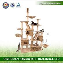 QQPET Factory Price Wholesale Luxury Cat Furniture Large Cat Tree Cat House