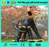 Outdoor giant inflatable halloween black cat