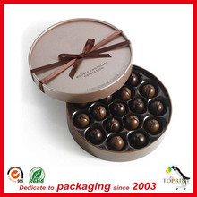 Custom paper Chocolate&Candy packaging box chocolate plastic trays packaging round gift box