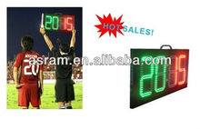 sign change player led,substitute board,Soccer Substitution Board