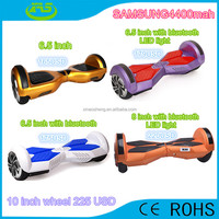2015 hot sales smart 2 wheel self balancing electric scooter with bluetooth play with flashlight
