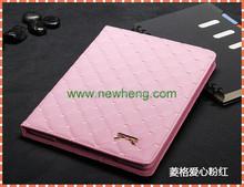 Luxury Design Diamond Pattern Lambskin Leather Case For iPad mini