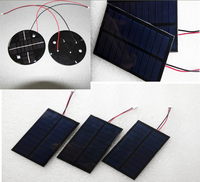 Customized 0.5w 1w 1.5w 2w 2.5w 3w 2v 6v 12v 18v small solar panel mini epoxy resin solar panel PET solar module for LED lights
