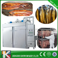 Full stainless steel 50kg 100kg 200kg capacity food fish smoked meat equipment for sale