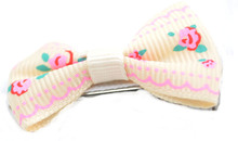 fashion ribbon bow new product hair clips kids hair clips