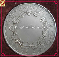 promotional custom engraved silver plated coin