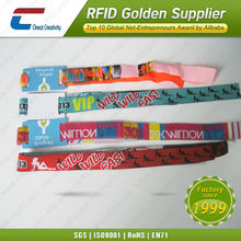 4 Color Print Fabric Card Rfid Wristband,Smart Wristband