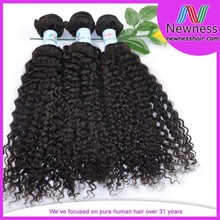 Factory price 7A luxurious full cuticle pure human indian remy romance curl hair