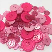 Resin Plastic Sewing Buttons Pink Scrapbooking Decorations Buttons Garment Accessories