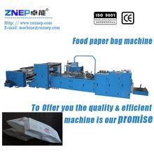 ZNS-350 Flat Bottom Food Paper Bag Machine/Bread Paper Bag Making Machine