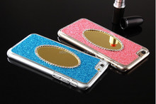 2015 new arrival hot selling pc luxurious glitter chrome mirror case mobile phone cases for iphone 6