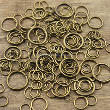Wholesale different Gold Plated Alloy Closed Jump Rings Charm Connector Jewellery Making Jewelry Findings Charm Bracelet Making