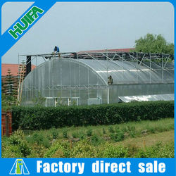 Easy assemble vegetable single span greenhouse farming equipment