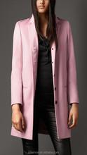 Winter Long Double-sided Plush Pink Women Fashion Coats 2015