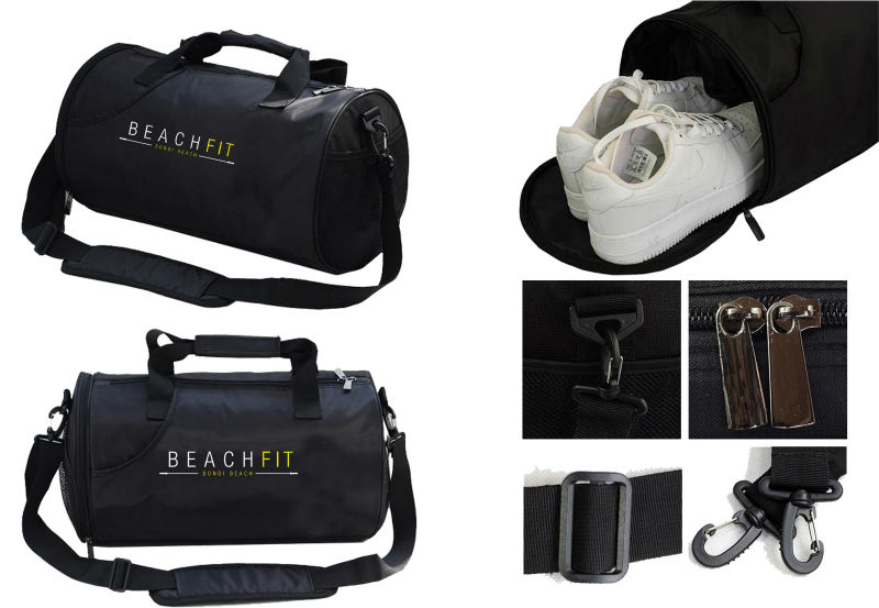 Quality sport gym bags with shoe compartment