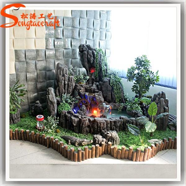 Hete verkoop mallen voor moderne muur fontein tuin decoratieve waterval steen rotspartijen - Exterieur decoratie moderne tuin ...