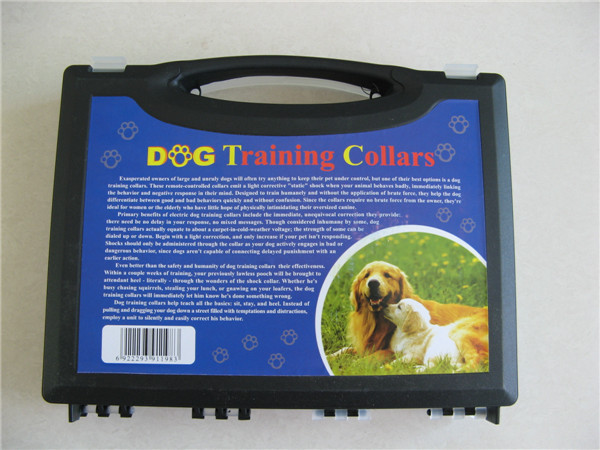 2014 Weatherproof Pet Dog Training Collar With Remote Control (Black and Red Pair)