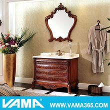 VAMA Classic Antique Solid Wood Floor-Mounted Bathroom Furniture