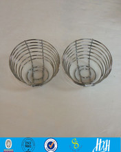Metal chromed wire kitchen baskets for holding bread
