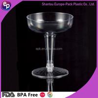 Transparent Plastic champagne glass Goblet,plastic decorative wine glass