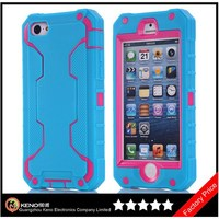 Keno Mobile Silicone Pouch for iPhone 5C, Robot 3 in 1 Combo Hybrid Defender High Impact Body Case for iPhone 5C