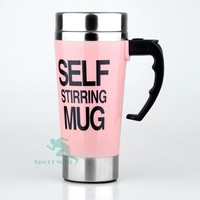 2015 New Hot Item Electric Auto Mug Self Stirring Mug with Handle Painted with Any Colors
