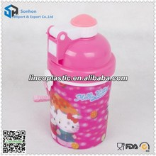 Customized 400ml 3D lenticular cups with straw and lid