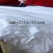 Microfiber peach skin Bleach White colour/Dyed/ PD/solid colour bedsheet/mattress/quilt fabric for duvet