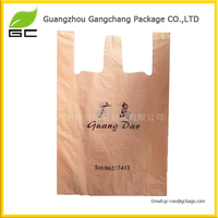 Wholesale custom style popurlar custom logo resealable plastic t-shirt bags