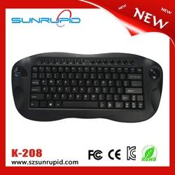 2.4G Wireless mini keyboard trackball, mini wireless multimedia type keyboard Nano receiver