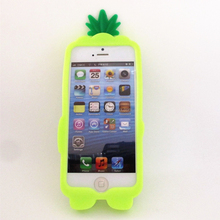Victoria/s Secret PINK Case for iPhone 5 5S 5G 5C Silicone Fruit Pineapple silicone case