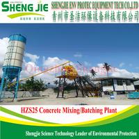 skip type 25m3/h ready mix concrete batch plant hzs25
