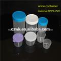 De plástico del hospital estéril de orina de contenedores, hecho en china