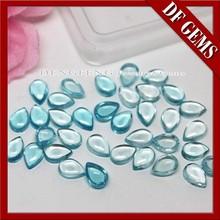 Fashion Wholesale aquamarine synthetic cz cabochon stones