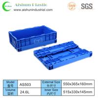 24.6 liter Plastic collapsing folding crate
