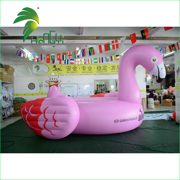 large pink inflatable swan (2)