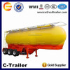 China 40 tons widely used 3 axles v shaped dry bulk tanker