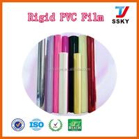 Rigid plastic pvc material clear pvc roll for school stationery