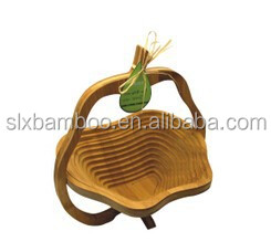 Environmental friendly bamboo fruit basket wholesale