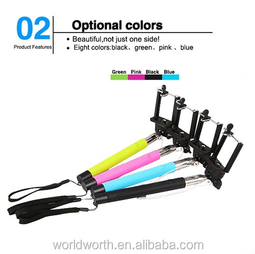 2014 New monopod with bluetooth shutter Z07-5 plus Wired Audio Cable Take Pole ,z07-5plus For iPhone 6 Samsung