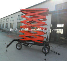hydraulic four wheels mobile scissor lifter /goods lifter