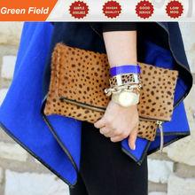 Leopard fold over clutch, leopard clutch, leather fold over clutch