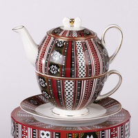 Ceramic Coffee Pot Combined Teapot and Cup In One