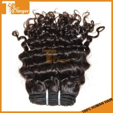 Good looking grade 5a human russian deep curly hair length 10inches natural black hairstyle for short hair