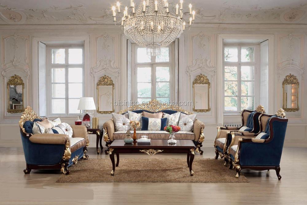 Sala De Estar Estilo Frances ~ Luxo móveis para sala, Estilo francês antigo conjuntos de sofá