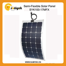 High efficiency 22% 100W Sunpower flexible solar panel for Golf car, RV and Roof application