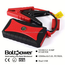 upower waterproof diy jump starter car power bank with 4 usb output and compass