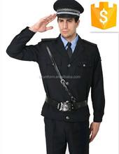 De manga larga apartamento del Hotel guardia de seguridad chaqueta y de las bragas Partol uniforme con el sombrero