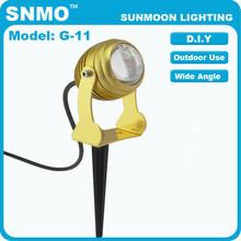 plug & play low volt wide angle flood garden lights with ground or wall mounting 7watt uplightig led