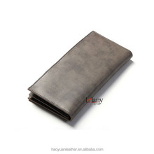 Silver colored men's rectangle wallet